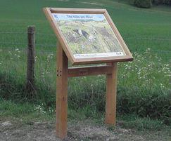 Oak lectern-frame interpretation sign