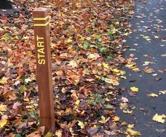 Timber waymarker 'Start' post