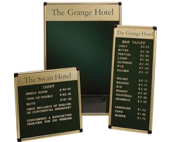 Variatex grooved letter boards with scribe frame