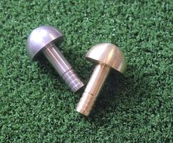 Paving studs are available in brass and stainless steel