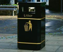 Albion 120L Standard steel litter bin