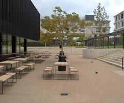 Marshalls - street furniture: Outdoor furniture for RIBA Stirling winning school