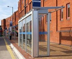 MOTIS transport shelters with custom branding