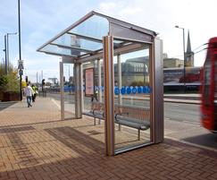 Bus shelters for Centro transport operator