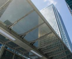 Transparent solar glass does not cause a visual impact