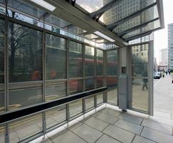 Solar bus shelter, Canary Wharf