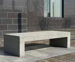 Barana cast stone bench