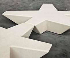 Escofet Flor cast stone bench
