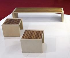 Escofet Prima Marina concrete bench detail