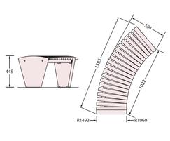 Sineu Graff Rendezvous circular bench - drawing
