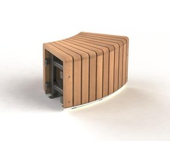 Natural Elements 45 Radius Bench module
