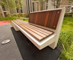 Escofet Equal cast stone bench