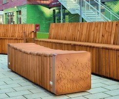 Natural Elements street furniture and La Linia paving