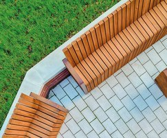Natural Elements FSC benches and La Linia paving