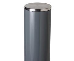 Essentials steel powder coated bollard close up