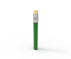 PiPencil Ferrocast polyurethane bollard - green