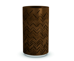 Charm decorative corten effect steel litter bin
