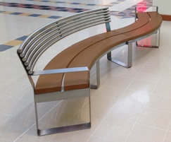 Clarendon S-Type stainless steel and iroko curved seat