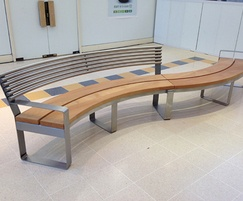 Clarendon S-Type metal and hardwood curved seat