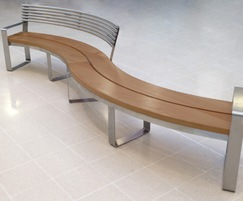 Clarendon S-Type stainless steel and timber curved seat