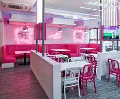 Wall panels for fast food restaurant, Liverpool