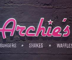 Wall panels for fast food restaurant