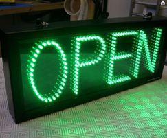 Single colour LED displays