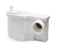 Wasteflo macerator fits neatly behind any WC
