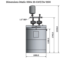 Dimensions iMatic 0504 2S-CMT/24 1200