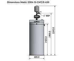 Dimensions iMatic 0304 1S-CMT/8 450