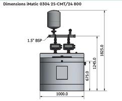 Dimensions iMatic 0304 2S-CMT/24 800
