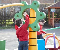 SNUG play elements for curving, undulating playscapes