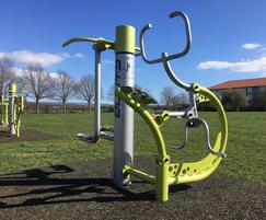 Rider outdoor gym equipment