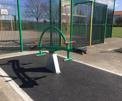 Seesaw for children's play area