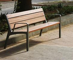 Miela wood and metal park bench