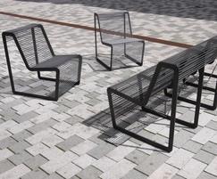 Limpido steel seating