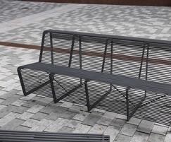 Limpido steel seat