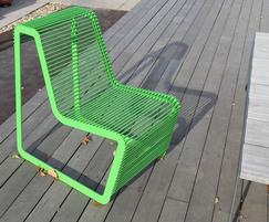 Limpido seat in bright green finish