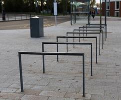 Edgetyre cycle rack on university campus