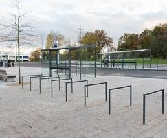 Edgetyre cycle stands and Regio bus shelters