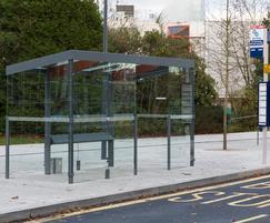 Shelter at new bus interchange, Warwick University