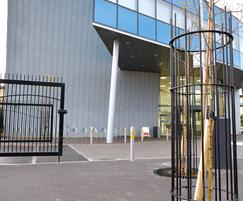 Tree guard, cycle parking and bollards for campus