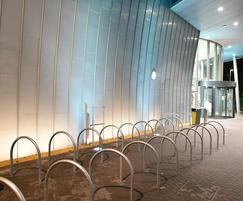 Cycle parking outside college building