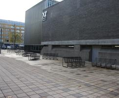 Limpido benches outside arts venue