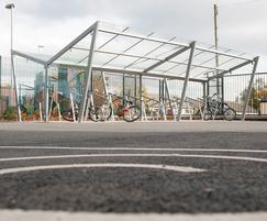 Cycle shelters at Comber Primary School