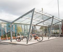 Cycle shelters - Comber Primary School