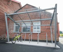 Cycle shelter at Donaghadee Primary School