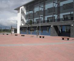 External benches and bin - Ellon Academy, Scotland