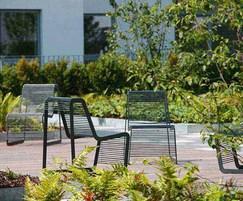 Mmcité Limpido external chairs, Streatham
