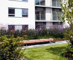 Woody timber external bench - Streatham